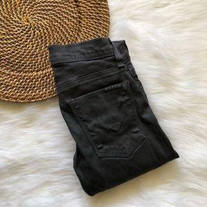 HUDSON Women's Gray Shiny Jeans